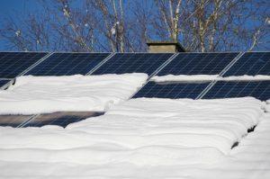 pannelli solari quando nevica