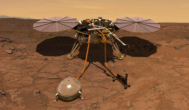 NASA la sonda Insight ha registrato il vento di Marte