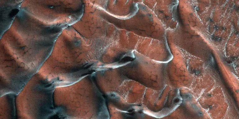 Dalla Nasa le nuove immagini delle dune di Marte